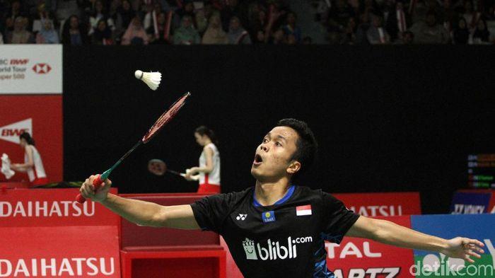 Pemain tunggal putra Indonesia, Anthony Sinisuka Ginting. (Foto: Rifkianto Nugroho/detikcom)