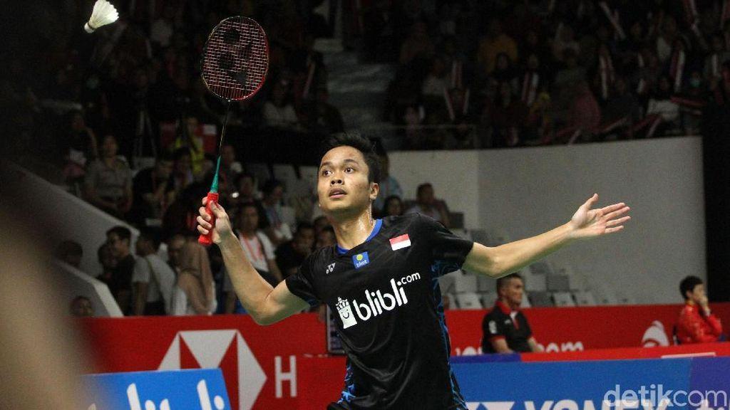 Kalahkan Zhao Junpeng, Anthony ke Perempatfinal dan Jumpa Kento Momota