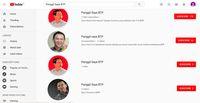 Channel-channel palsu Basuki Tjahaja Purnama (BTP) alias Ahok.
