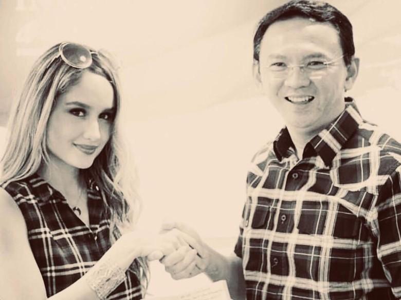 Foto: Cinta Laura dan Ahok (Instagram)