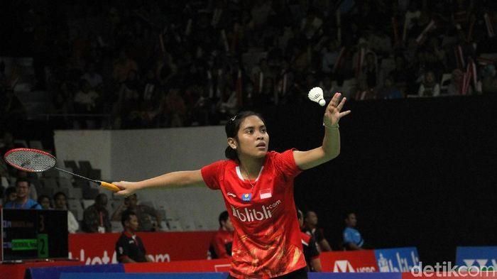 Gregoria Mariska Tunjung berfokus satu demi satu pertandingan di Singapura Terbuka 2019. (Rifkianto Nugroho/detikSport)