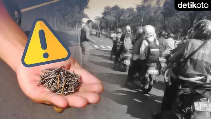 Ranjau Paku Jalanan Jakarta