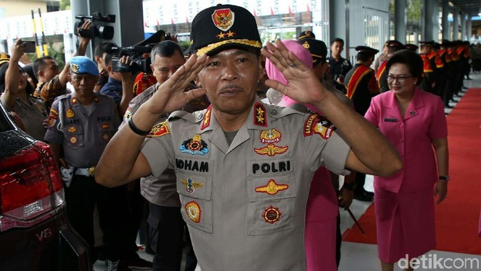 Idham Azis saat pisah sambut Kapolda Metro Jaya (Agung Pambudhy/detikcom)