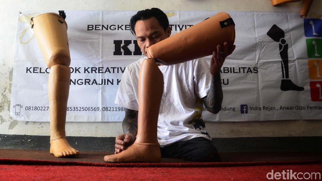 Kaki Palsu Buatan Penyandang Disabilitas Ini Tembus Malaysia