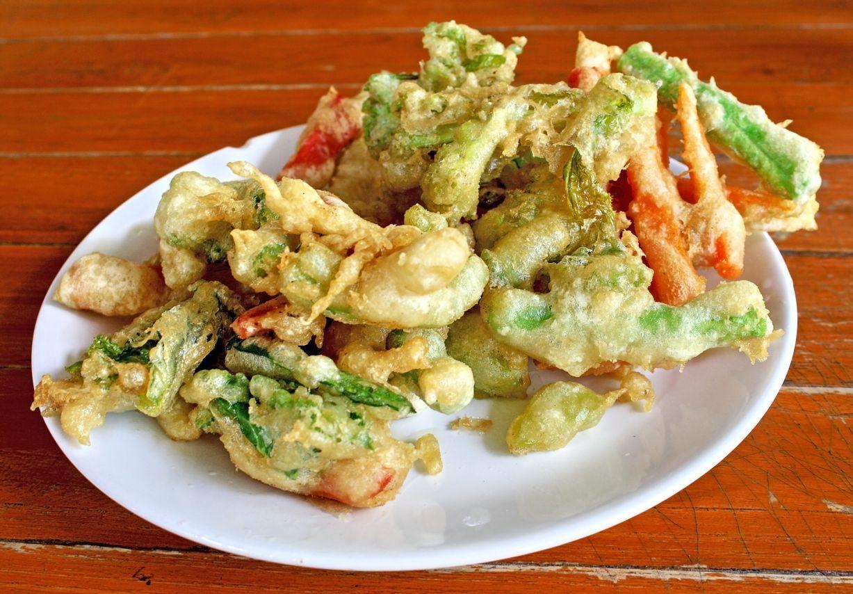 Deep fried mix vegetable. Tempura