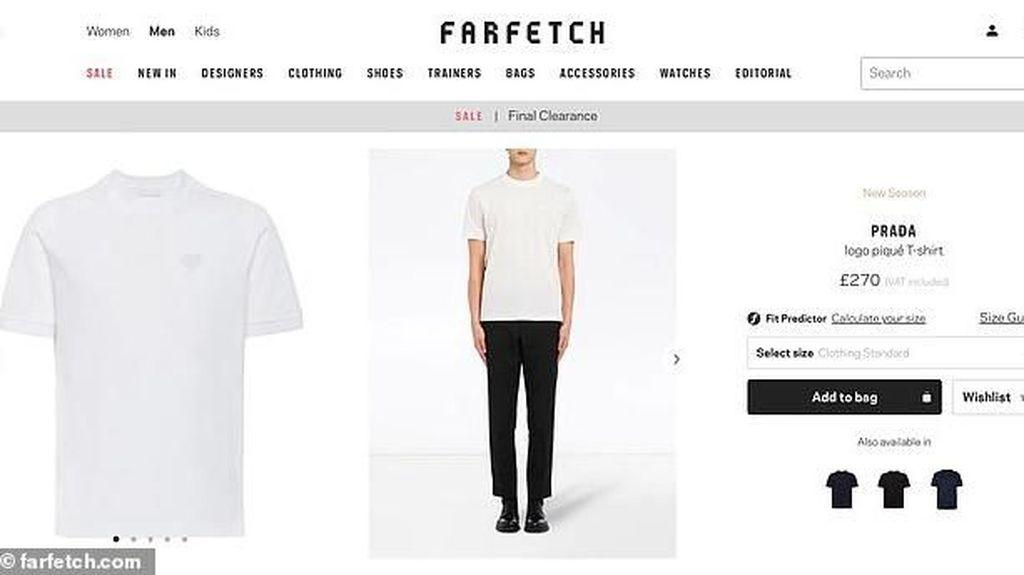 Prada Jual Kaos Putih Polos Rp 5 Jutaan, Netizen Langsung Nyinyir