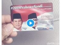 Video e-Money Prabowo-Sandi Berujung Ancaman Dipolisikan