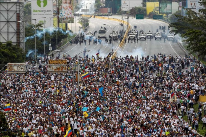 Foto suasana di Venezuela (detik)