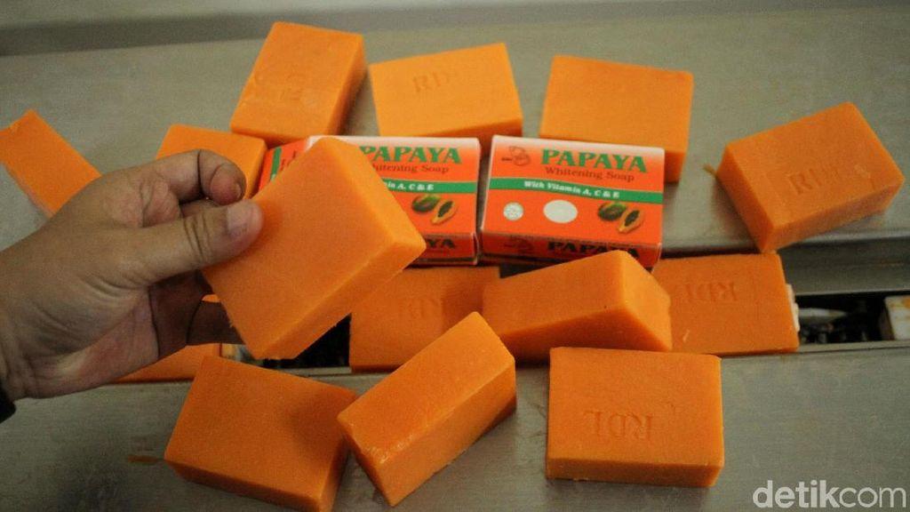 Penampakan Sabun Palsu yang Diamankan BPOM