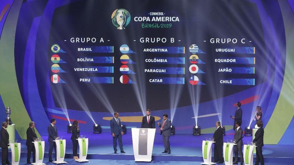 Hasil Drawing Copa America: Brasil Mudah, Argentina Segrup Kolombia
