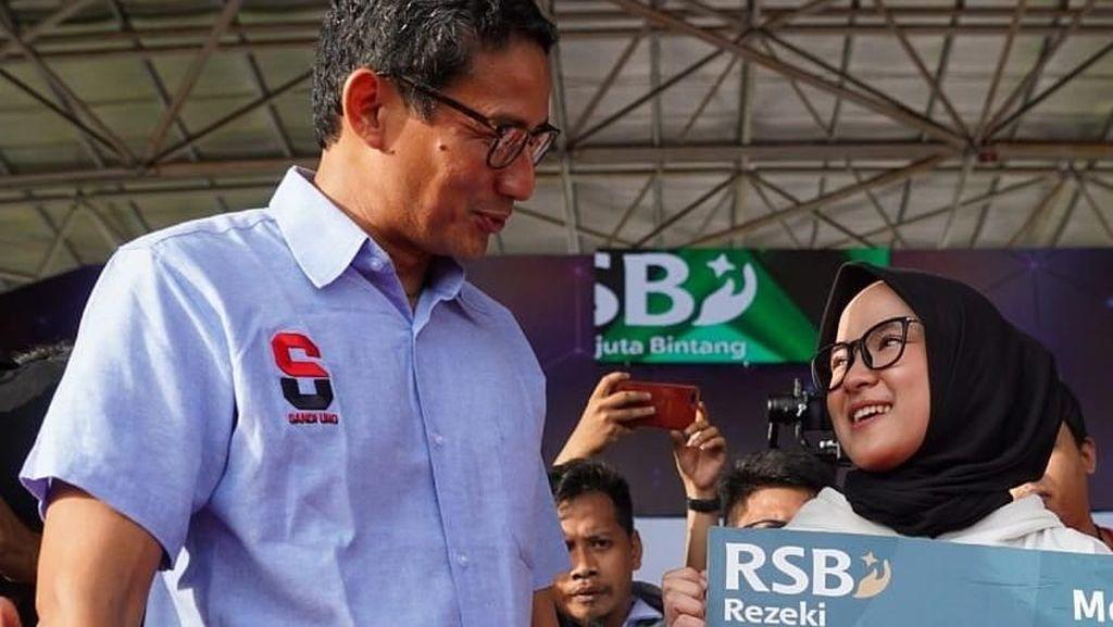 Dukung Capres 02, Nissa Sabyan Setia Dampingi Sandiaga Uno ke Daerah