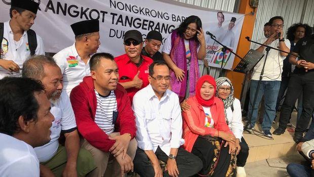 Menhub Budi Karya Sumadi hadiri acara nongkrong bareng sopir C 01 Ciledug-Kebayoran.