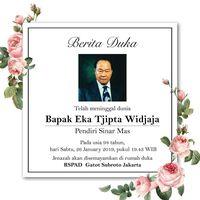 Eka Tjipta Widjaja meninggal dunia