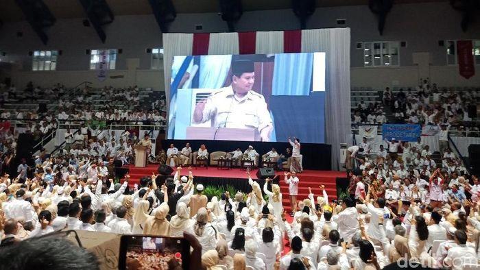 Foto: Prabowo saat didukung alumni perguruan tinggi (Kanavino/detikcom)