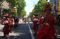 Baju Adat '10 Bali Baru' Meriahkan Parade Australia