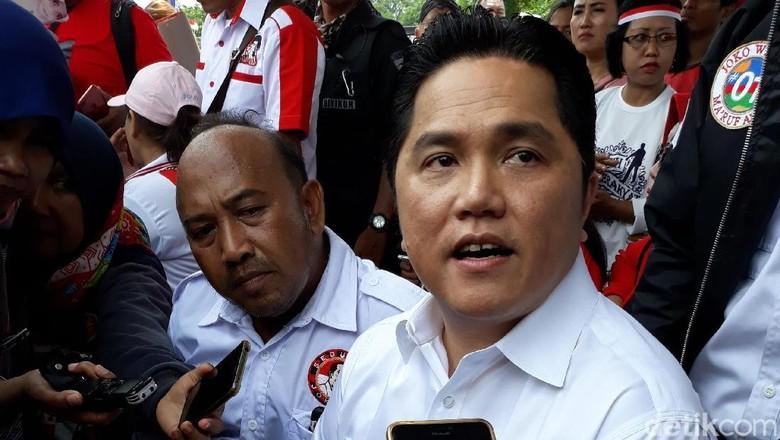 Erick soal Muchdi PR Pro-Jokowi: Banyak Dukungan Makin Bagus