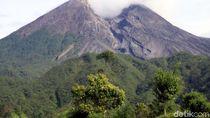Gunung Merapi 2 Kali Gugurkan Awan Panas Pagi Ini