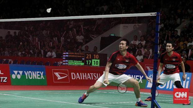 Ahsan/Hendra menjadi salah satu wakil Indonesia di perempat final All England.