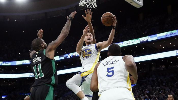 Golden State Warriors mengalahkan Boston Celtics 115-111. Foto: Winslow Townson-USA TODAY Sports