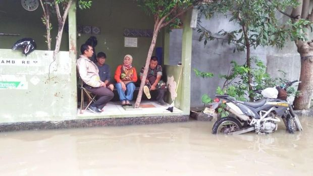 Lokasi penemuan ular di Bekasi.