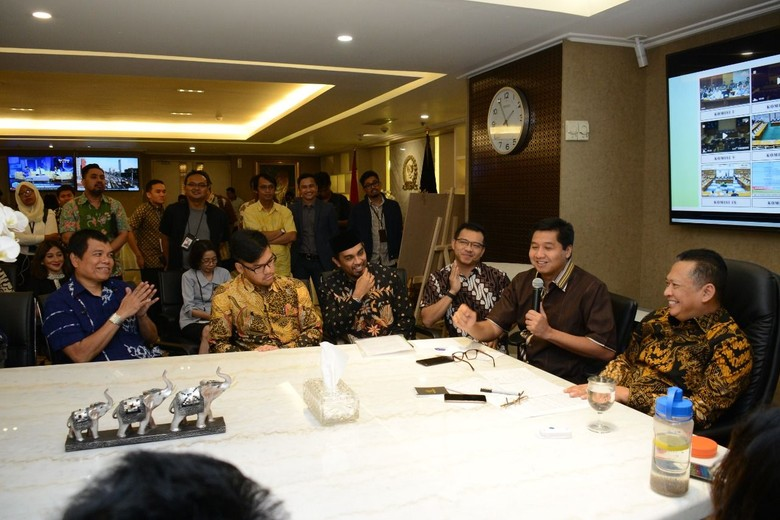 Foto: Musisi saat temui Ketua DPR Bambang Soesatyo. (Dok Bamsoet).