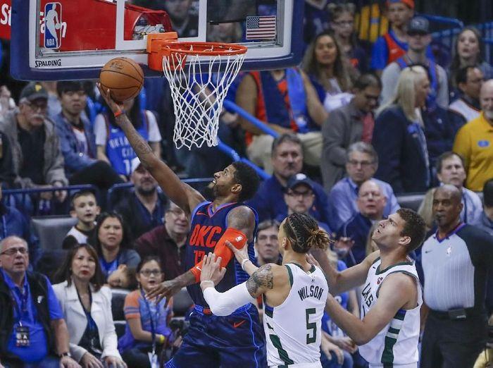Oklahoma City Thunder memutus rangkaian kemenangan Milwaukee Bucks dalam lanjutan NBA. Foto: Alonzo Adams-USA TODAY Sports