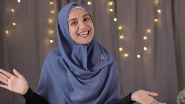 4 Tutorial Hijab Segi Empat Menutup Dada ala Shireen Sungkar