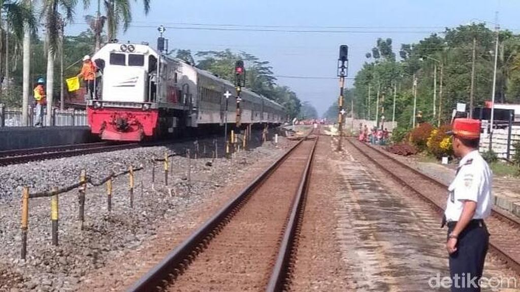 Double Track Stasiun Kroya-Purwokerto Sudah Beroperasi