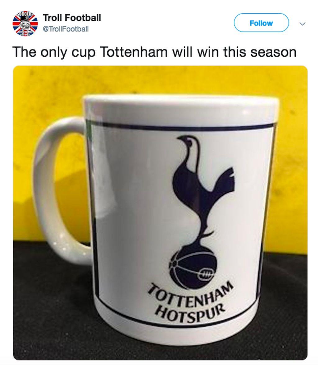 Mungkin hanya cup (cangkir) ini yang akan dimenangkan Tottenham pada musim ini. Foto: istimewa