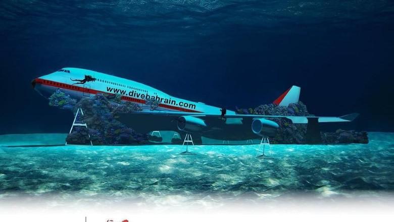 Taman rekreasi bawah laut terbesar di dunia akan dibuka di Bahrain. (Instagram/@divebahrain)