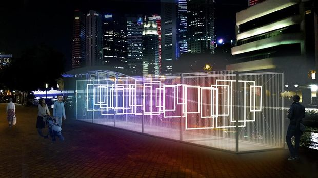 i Light Singapore Resmi Dibuka, 33 Karya Seni Interaktif Hiasi Marina Bay