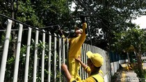 Akhirnya, Kabel Menjuntai di Kawasan Jakarta Dirapikan