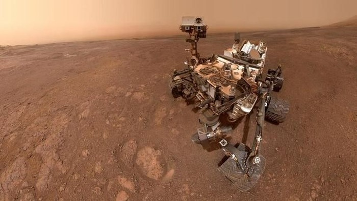 Gaya selfie robot Curiosity di Planet Mars. (Foto: Dok. NASA/JPL-Caltech/MSSS)