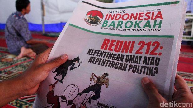 Sampul depan Tabloid Indonesia Barokah.