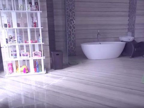 Kamar Mandi Jadi Favorit Momo 'Geisha' di Rumah, Gimana Sih Bentuknya?