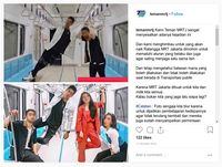 Selebgram Diundang ke MRT, Injak Kursi Lalu Jadi Kontroversi