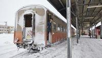 Salah satu stasiun Kereta Api Tsugaru (JNTO/CNN Travel)
