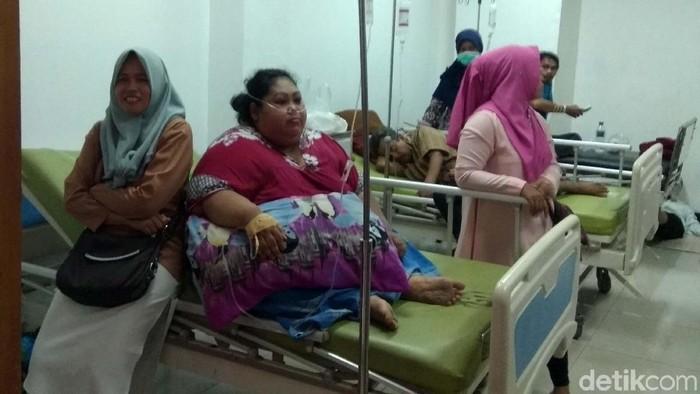 Almarhumah Sunarti saat dirawat di Karawang (Foto: Luthfiana Awaluddin)
