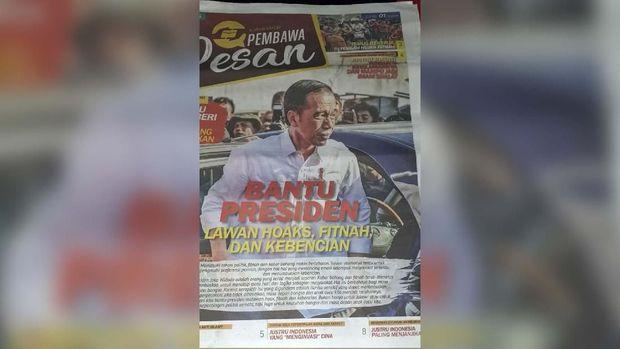 Sebelumnya, ada pula tabloid 'Pembawa Pesan' yang diedarkan di Jakarta.