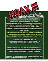 Maklumat hoax yang catut nama Habib Rizieq