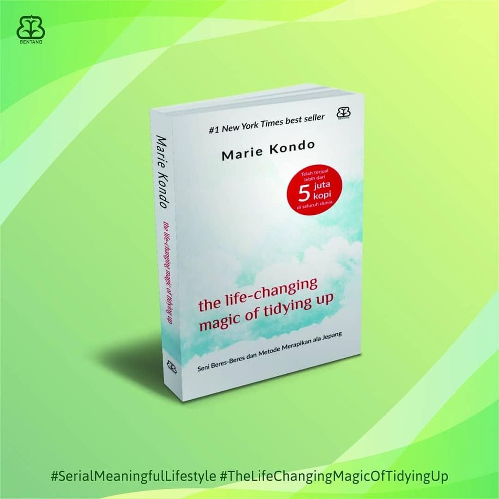 Selamat! Buku Marie Kondo Cetak Ulang ke-14 di Indonesia