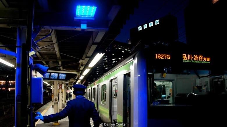 Lampu biru stasiun di Jepang (BBC Future)