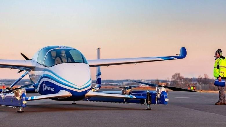 Taksi terbang Boeing sukses diuji coba di AS (Twitter/@Boeing)