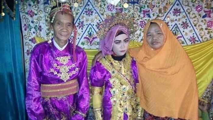 Pernikahan beda usia di Sinjai. (ist.)