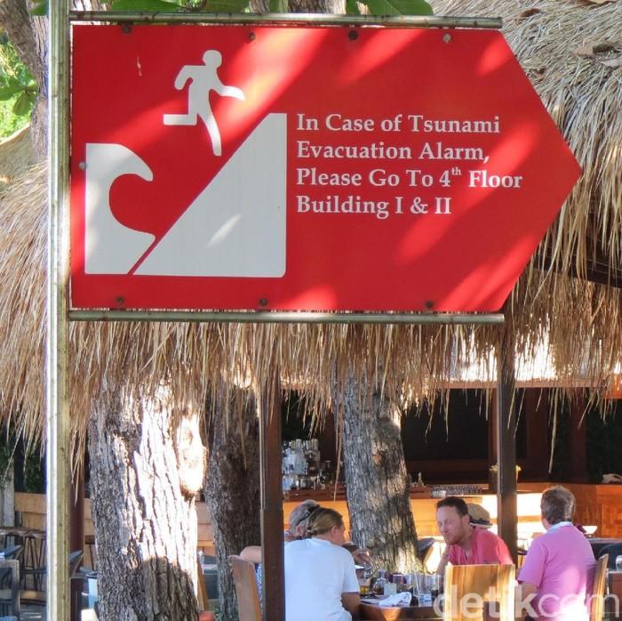 Ilustrasi Jalur Evakuasi Tsunami di Bali