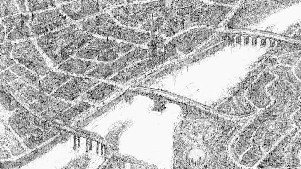 Seperti Lukisan, Peta Raksasa dari 69 Kota di Inggris Dibuat Dua Seniman