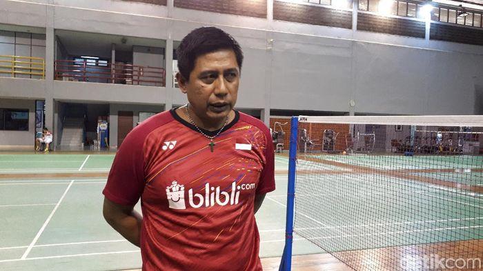 Asisten Pelatih ganda campuran Nova Widianto. (Foto: Mercy Raya/detikSport)