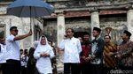Gaya Kompak Jokowi-Iriana Saat Tinjau Benteng Pendem