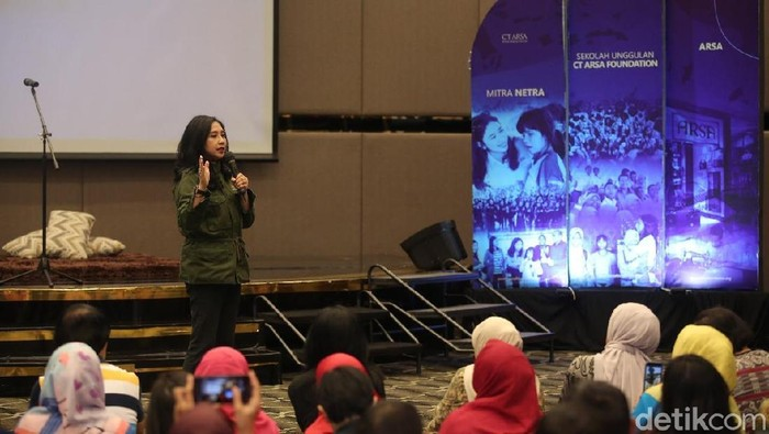 Ketua CT ARSA Foundation Anita Ratnasari Tanjung Foto: Marcelino Kuky/ Show Documentation Trans TV