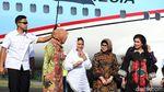 Momen Jokowi Tiba di Magetan Bersama Iriana